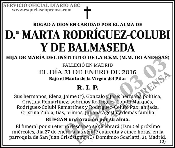 Marta Rodríguez-Colubi y de Balmaseda
